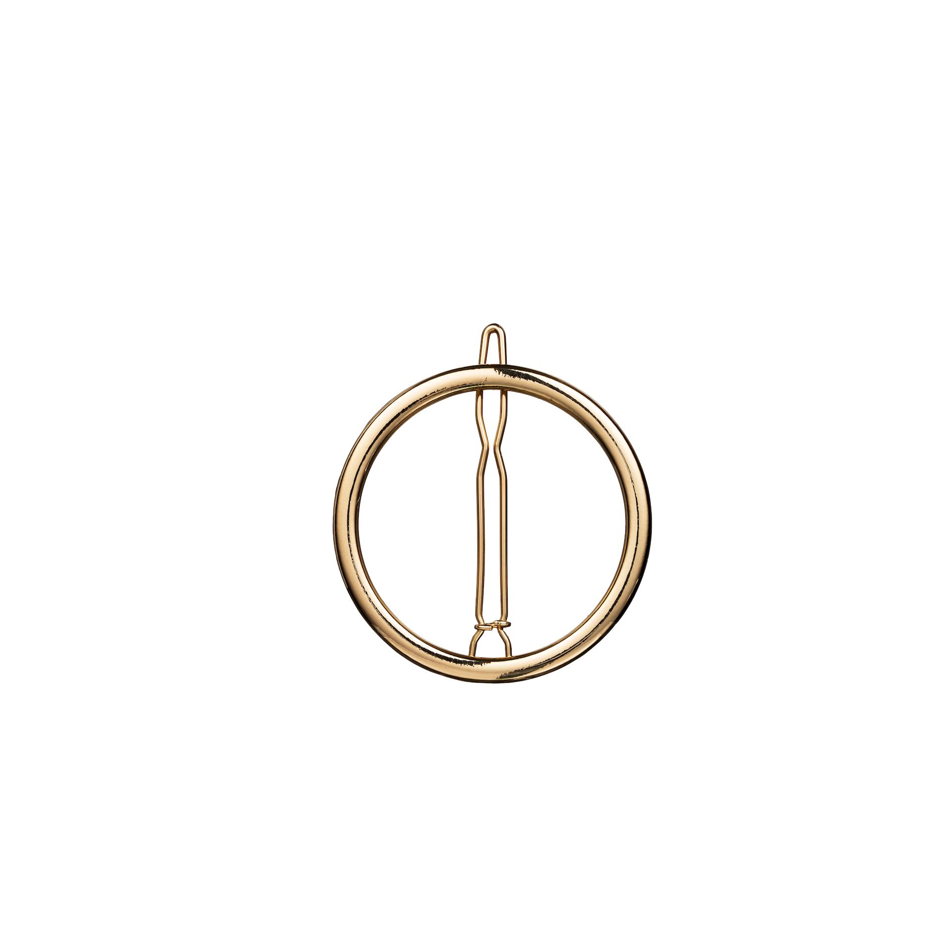 Round Hair Clip Gold