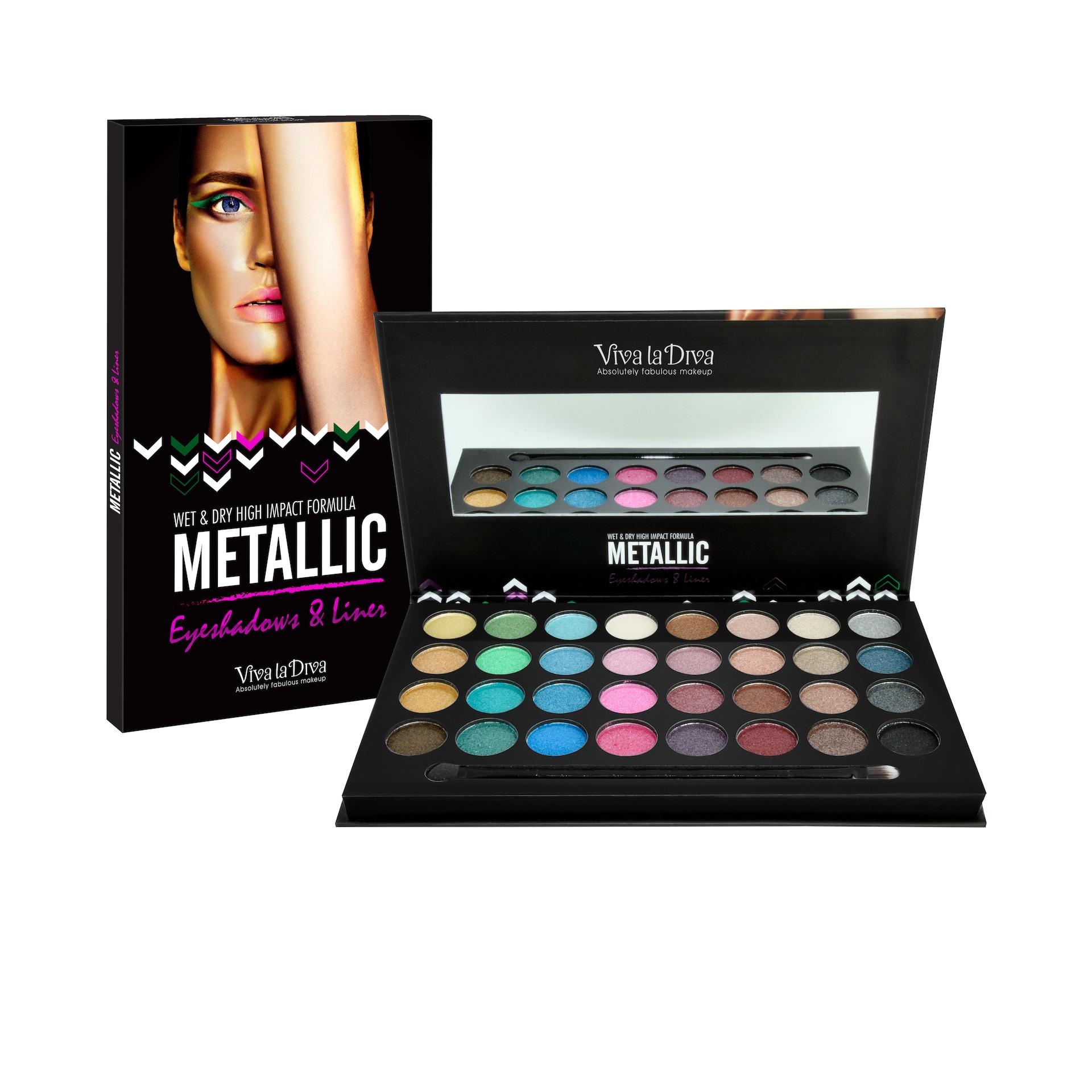 Metallic Eyeshadows & Liner