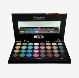 Metallic Eyeshadows & Liner Palette