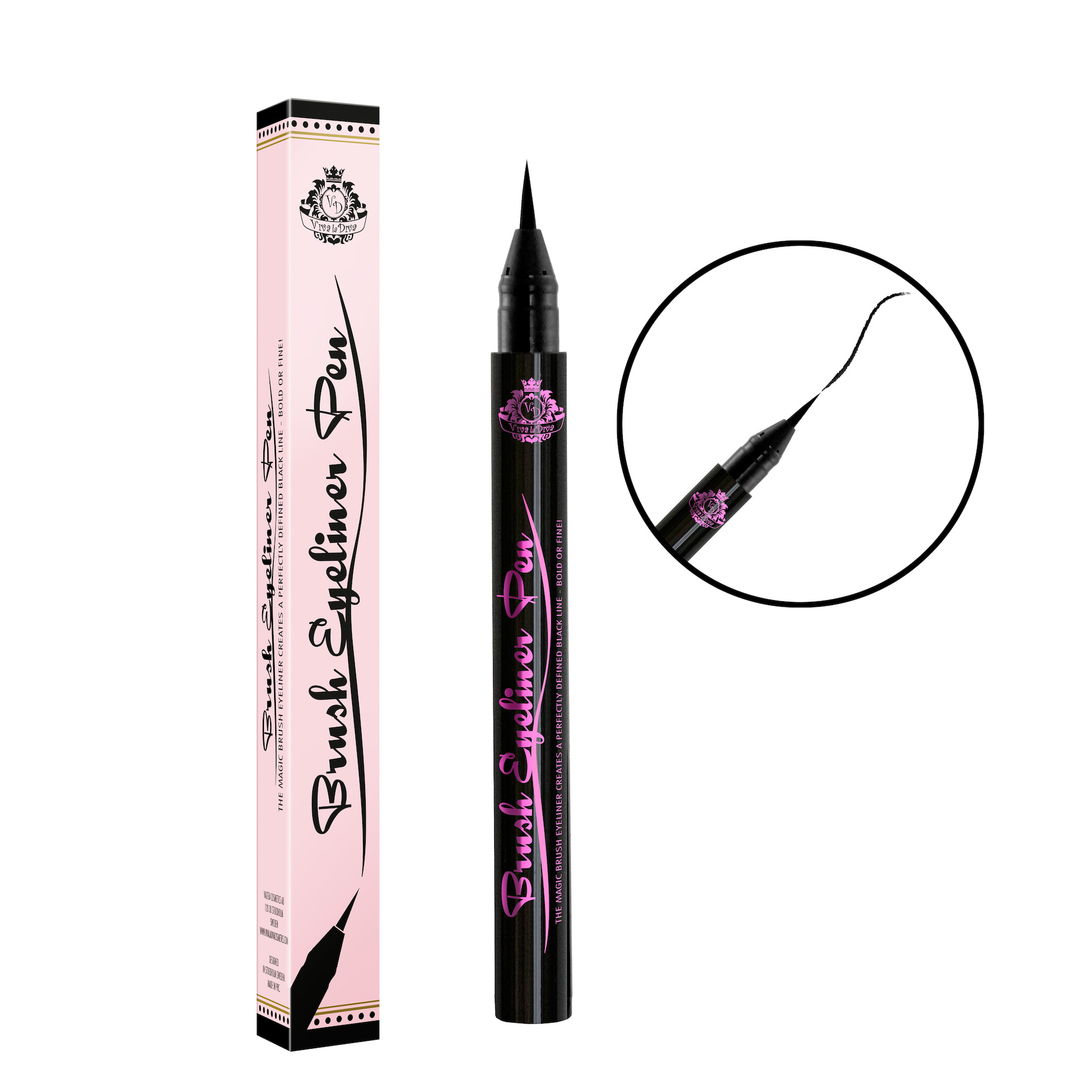 Brush Eyeliner Pen Black