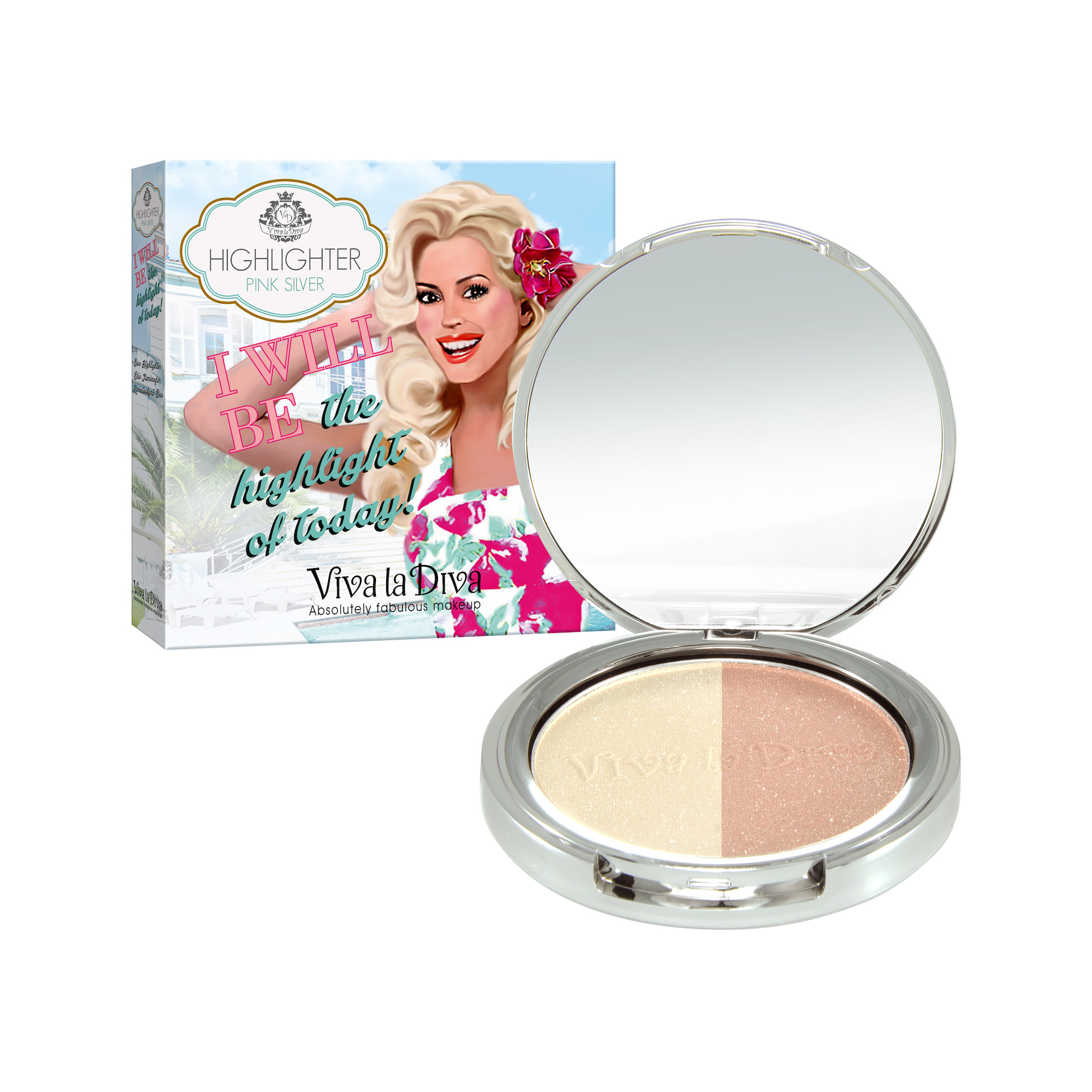 Duo Highlighter Pink Silver