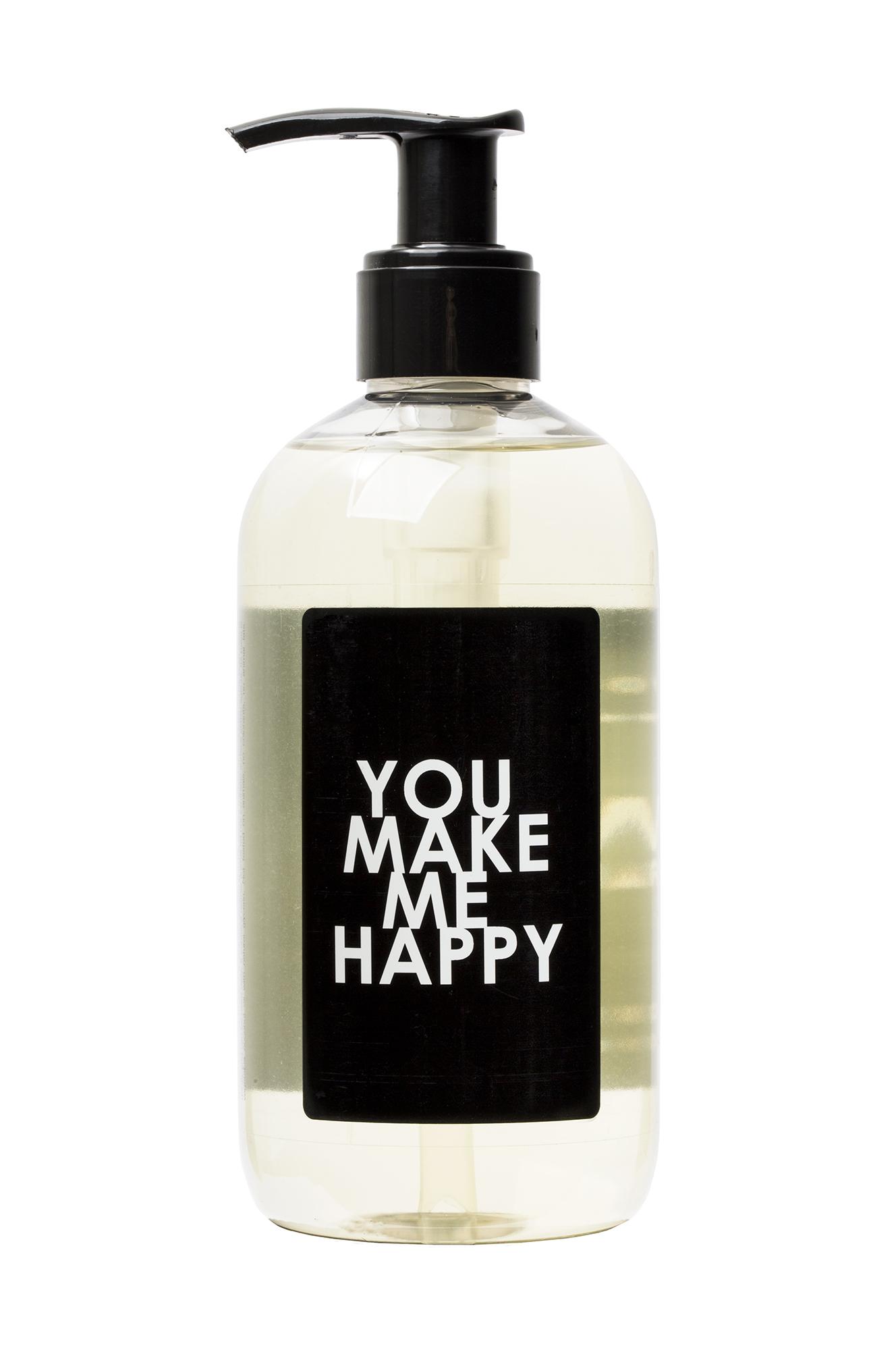 "Savon Words Black ""You make me happy"" Liquid Soap 300ml"
