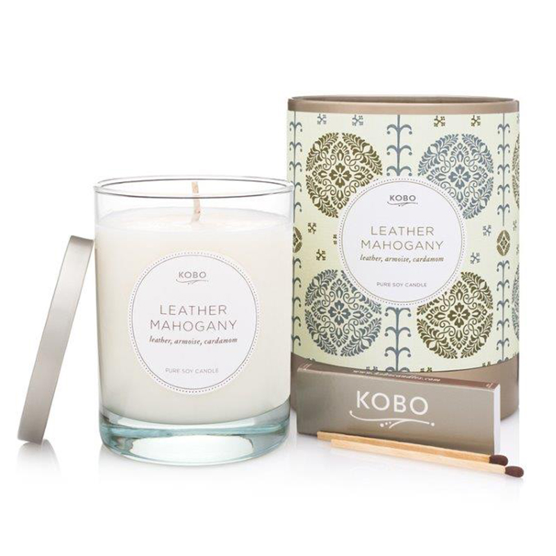 Motif Collection Leather Mahogany Candle