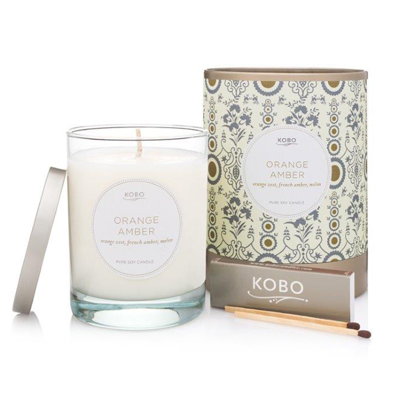 Motif Collection Orange Amber Candle
