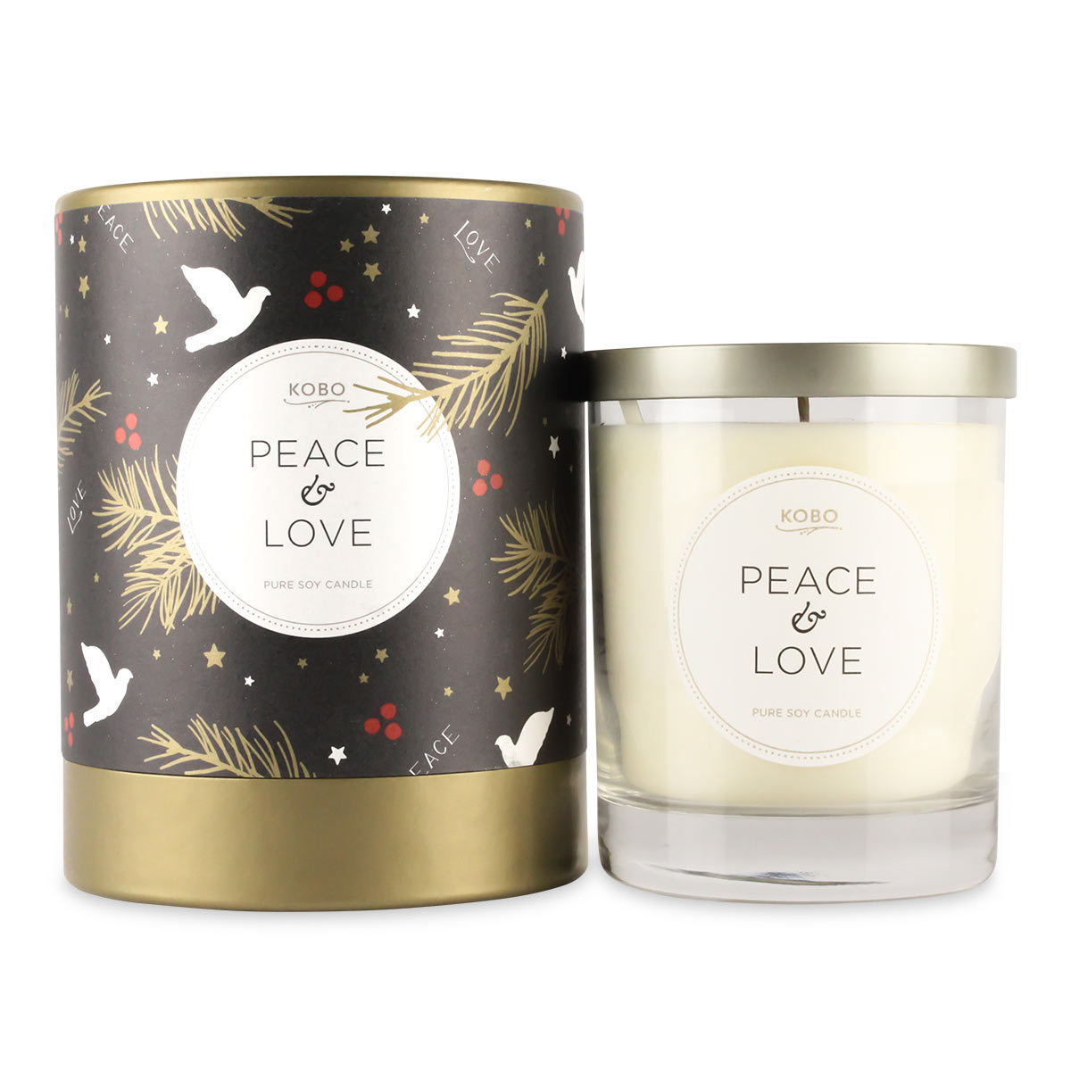 Candle Peace & Love