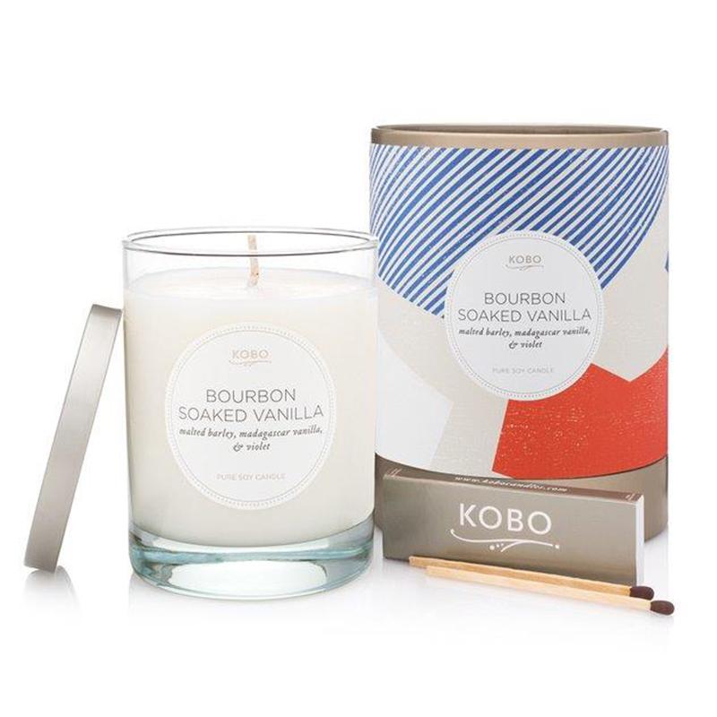 Natural math/Bourbon Soaked Vanilla Candle