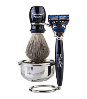 Duke SR 4-Piece Ebony (Fusion) Shaving Set