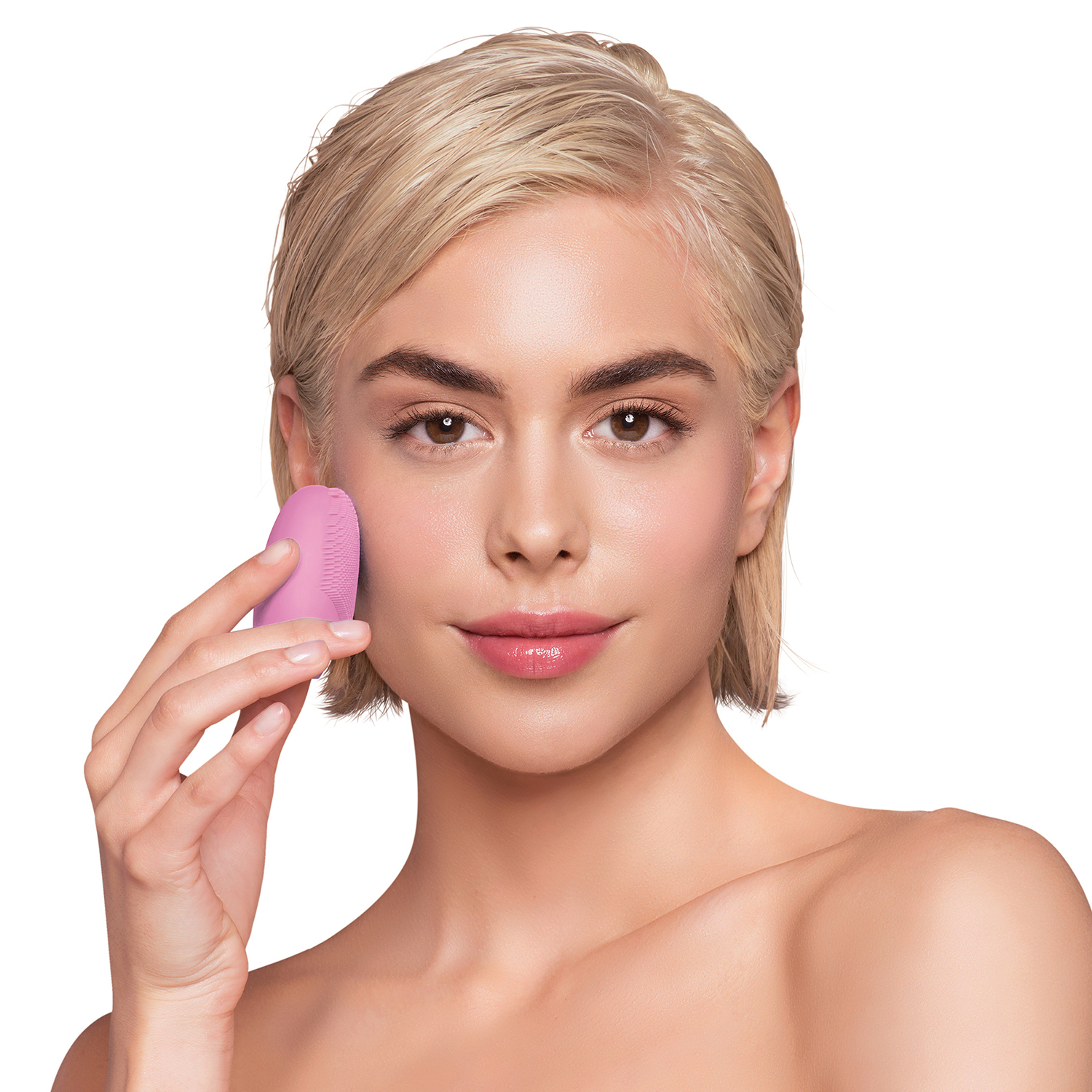 Luna Fofo Smart Facial Cleansing Brush Pearl Pink