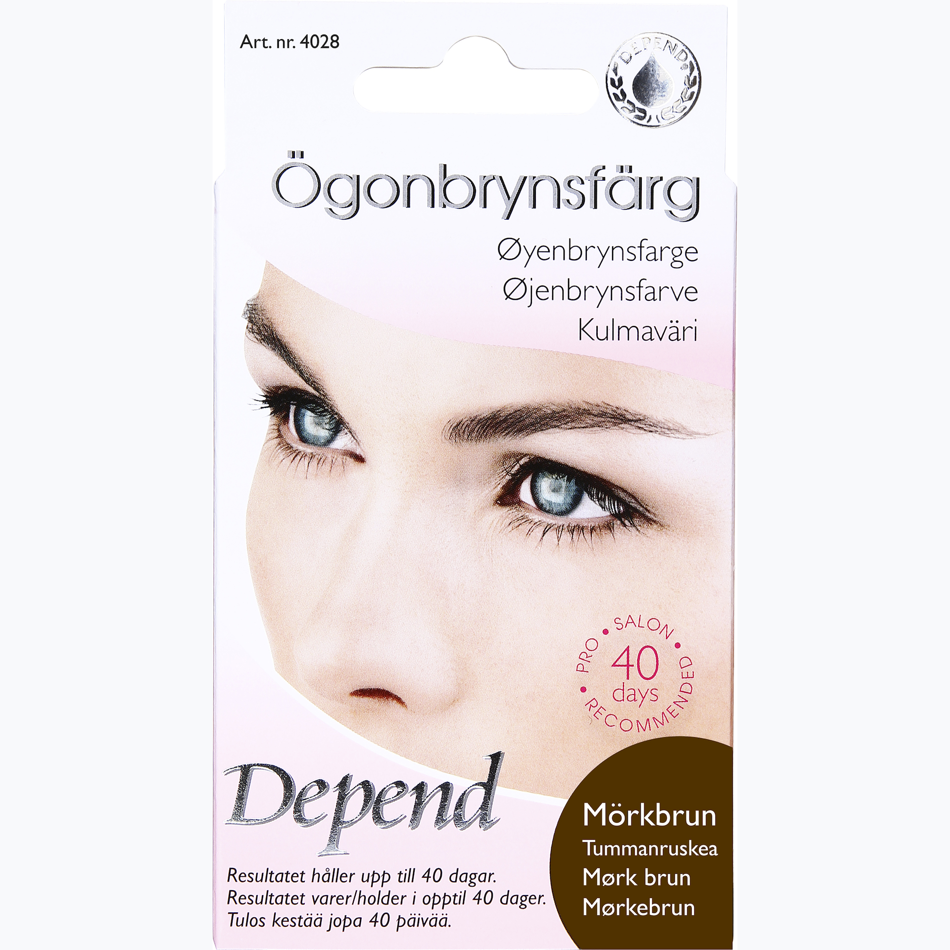 Eyebrow Color Dark Brown