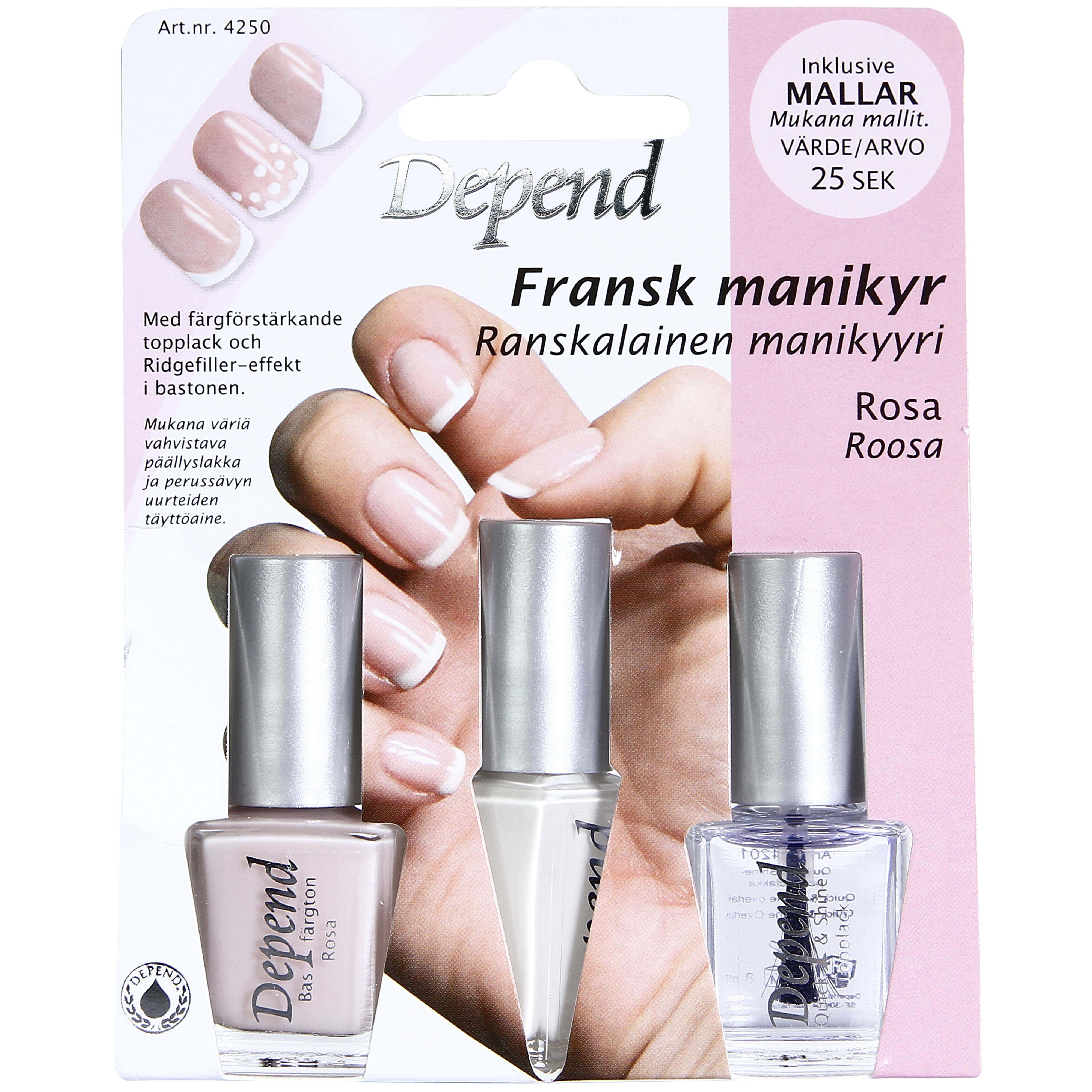 Fransk Manikyr Rosa ton
