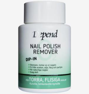Dip-in Remover för torra, flisiga naglar