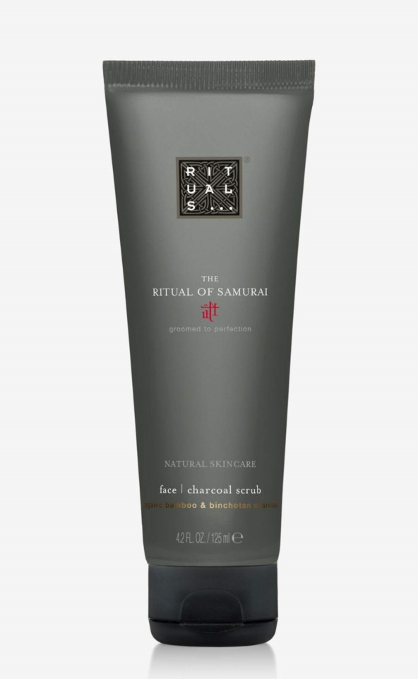The Ritual Of Samurai Face Charcoal Scrub 125 ml
