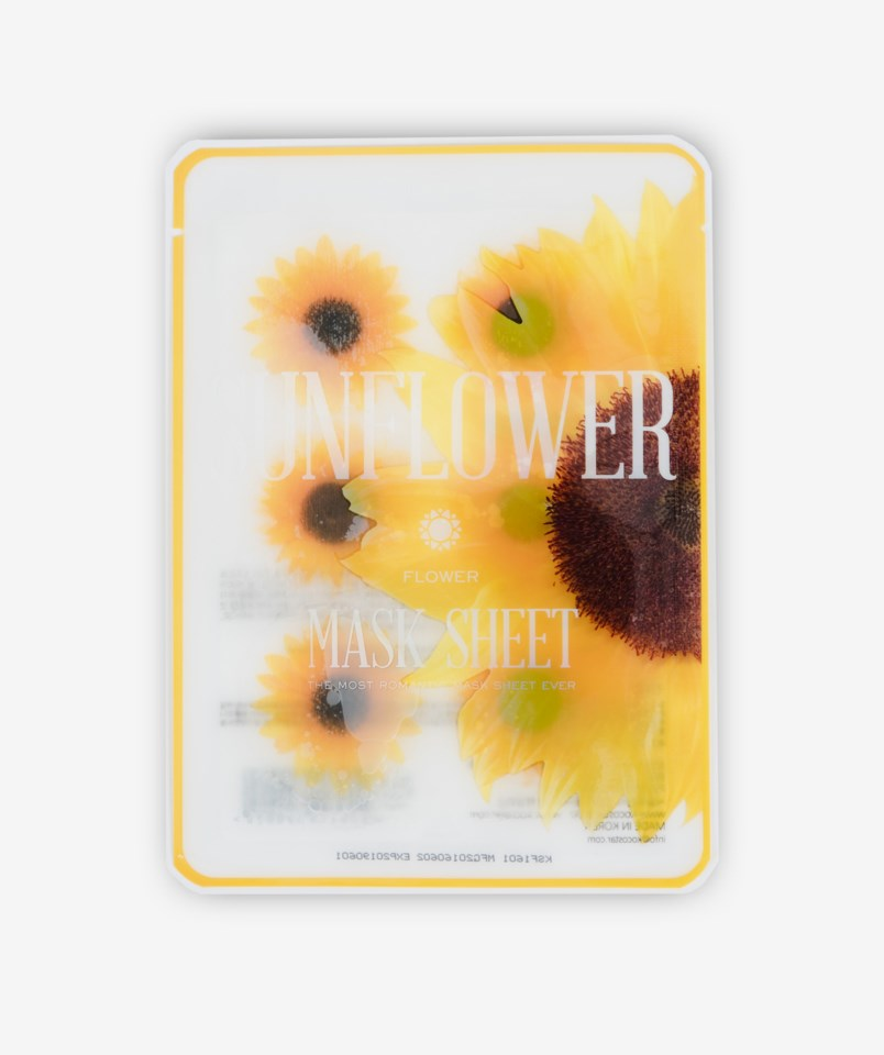 Sunflower Flower Sheet Mask