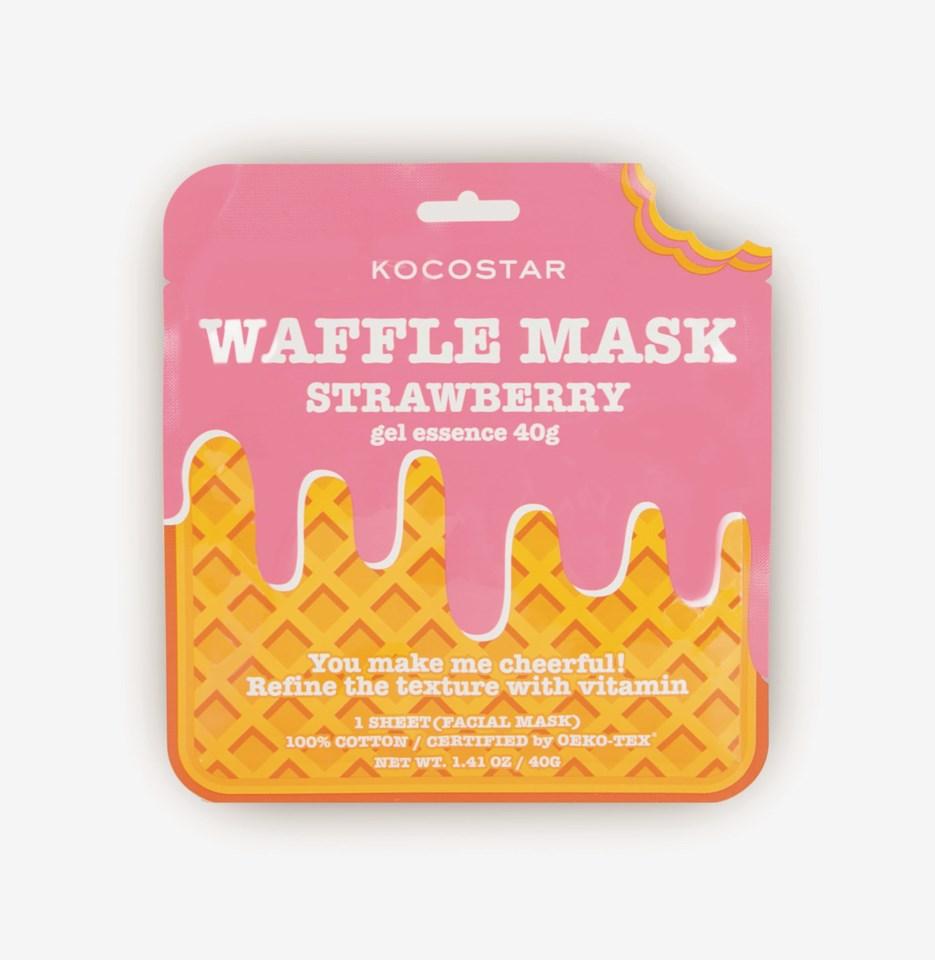 Waffle Mask Strawberry