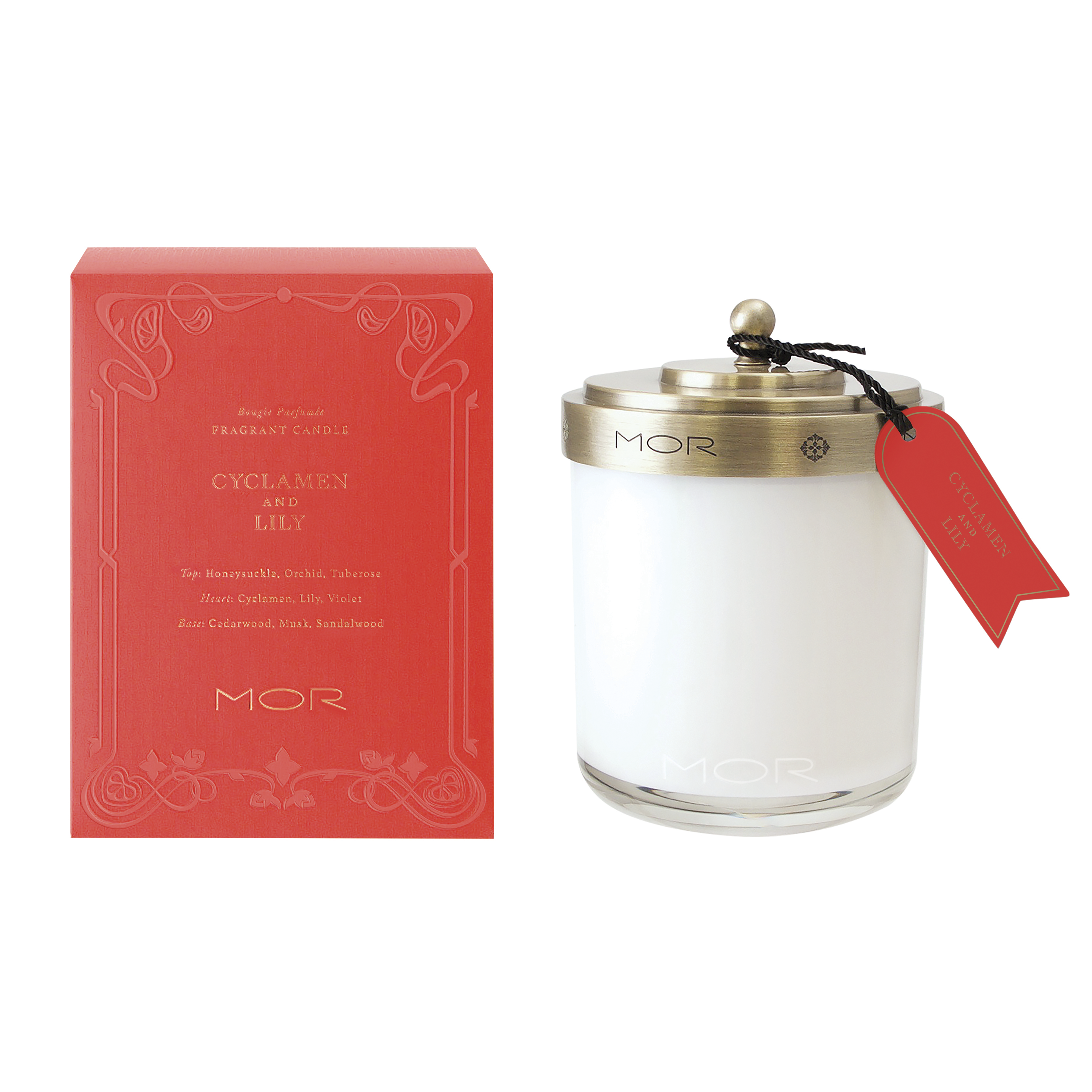 Library Cyklamen & Lily Scented Candle