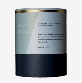 Green Retreat Detox & Antioxidant Scented Candle 210 g