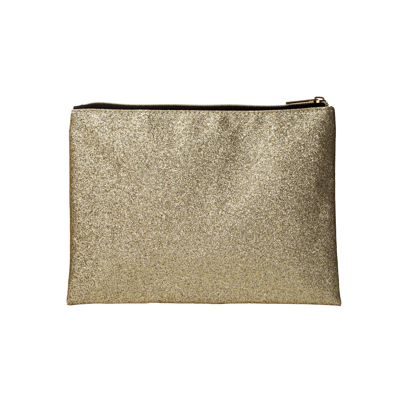 Makeup Bag Gold Glitter