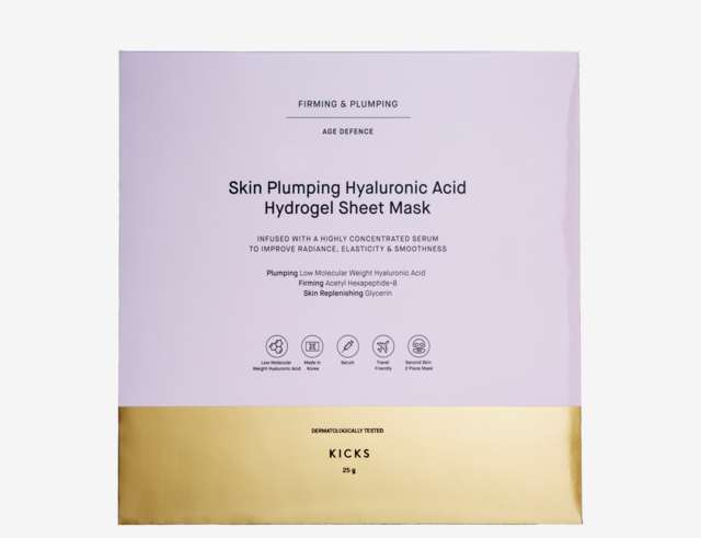 KICKS Beauty Skin Plumping Hyaluronic Acid Sheet Mask