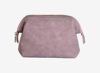Small Makeup Bag Faux Suede