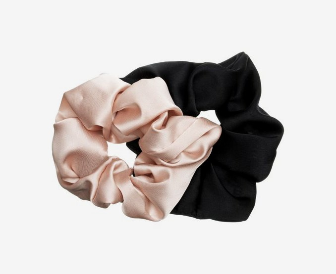 Satin Hair Scrunchie 2-p