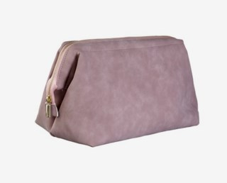 Large Toiletry Bag Faux Suede